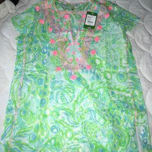 NWT Lilly Pulitzer Sea Breeze Tunic Any Fins XS